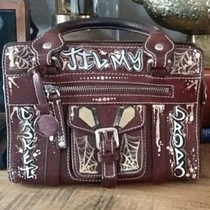 Dooney and Bourke small handbag handpainted